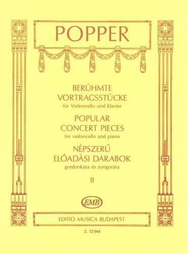 Popper: Popular Concert Pieces Vol 2 for Cello published by EMB