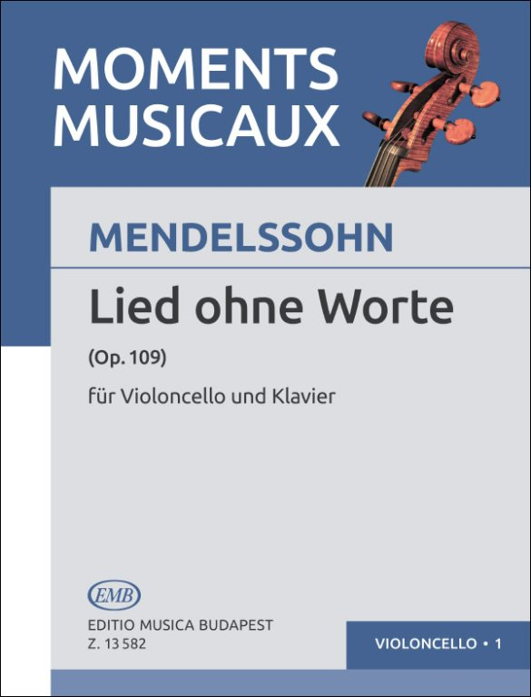 Mendelssohn: Song without Words (Lied ohne Worte) Op 109 for Cello published by EMB