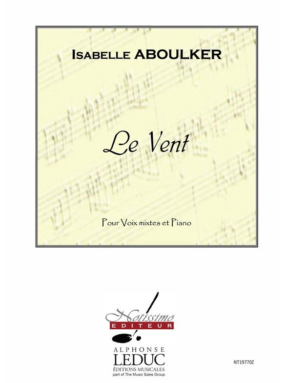 Aboulker: Le Vent SMSTB published by Leduc