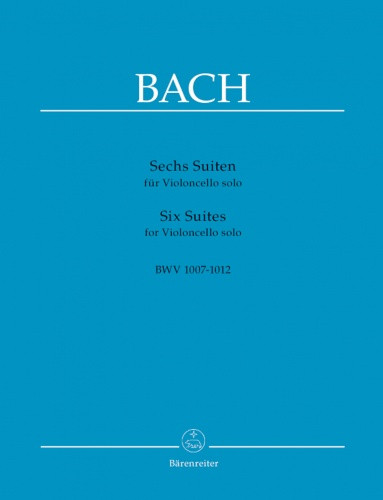 Bach: 6 Solo Suites for Cello published by Barenreiter