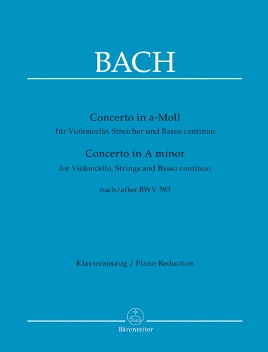 Bach: Concerto in A minor for Cello published by Barenreiter