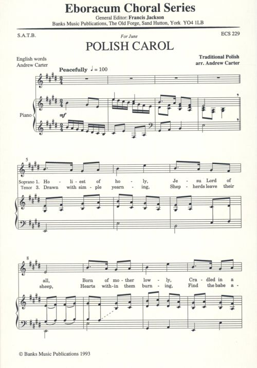 Carter: Polish Carol SATB published by Eboracum