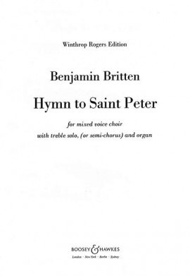 Britten: Hymn to St Peter SATB published by Boosey and Hawkes