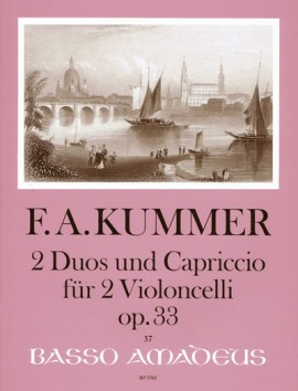Kummer: 2 Duos and Capriccio for 2 Cellos published by Amadeus