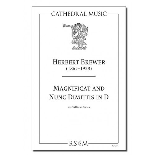 Brewer: Magnificat & Nunc Dimittis in D SATB published by Cathedral Music