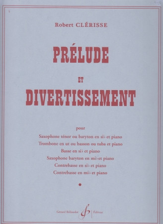 Prelude & Divertissement by Clerisse published by Billaudot