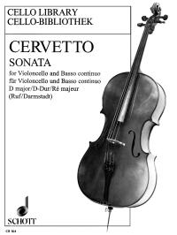 Cervetto: Cello Sonata in D Opus 2/10 published by Schott