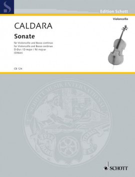 Caldara: Sonata in D for Cello published by Schott