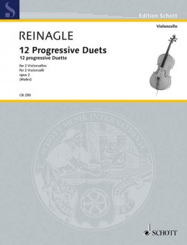 Reinagle: 12 Progressive Duets for 2 Cellos published by Schott