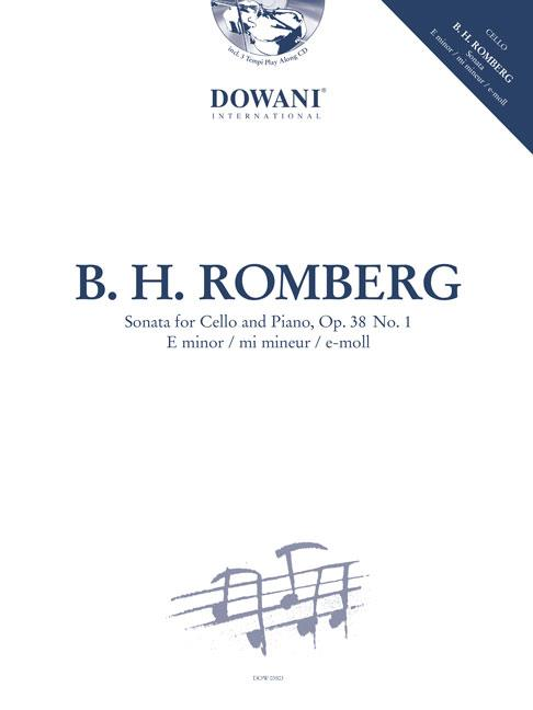 Romberg: Sonata in E Minor for Cello Book & CD published by Dowani