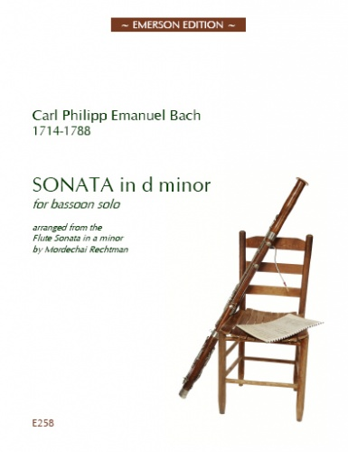 C P E Bach: Sonata in B Minor for Bassoon published by Emerson