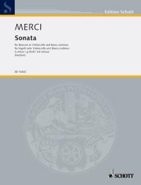 Merci: Sonata in G Minor Opus 3/4 for Bassoon published by Schott
