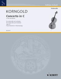 Korngold: Concerto in C Opus 37 for Cello published by Schott