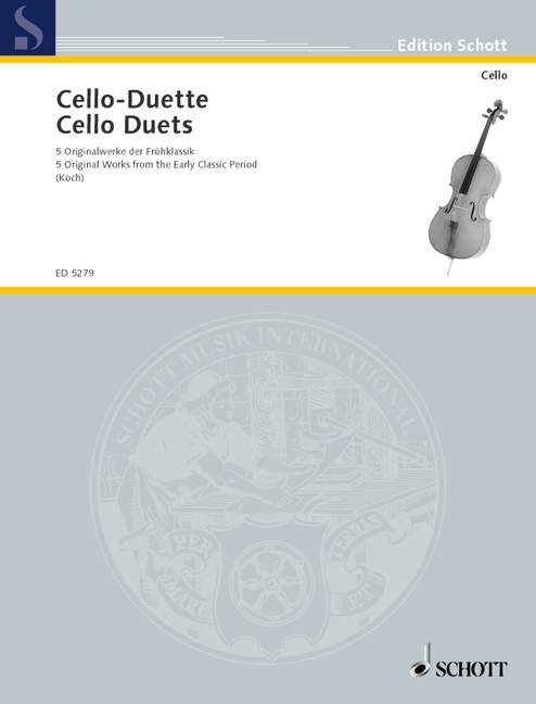 Cello Duets: 5 Original Works from the Early Classic Period published by Schott