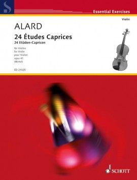 Alard: 24 Etudes Caprices Opus 41 for Violin published by Schott