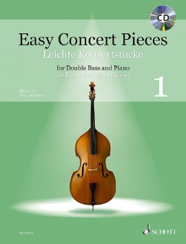 Easy Concert Pieces 1 Book & CD for Double Bass published by Schott