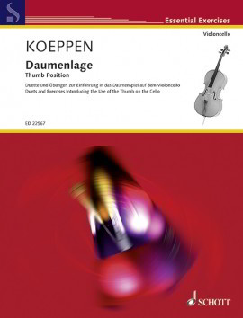 Koeppen: Thumb Position for Cello published by Schott