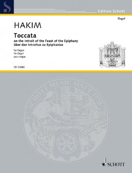 Hakim: Toccata for Organ published by Schott