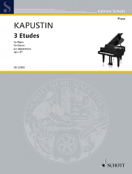 Kapustin: 3 Etudes Opus 67 for Piano published by Schott