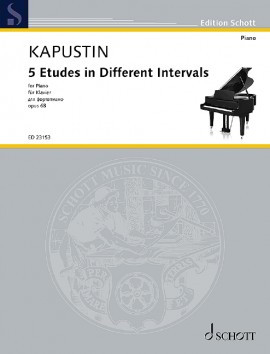 Kapustin: 5 Etudes in Different Intervals Opus 68 for Piano published by Schott