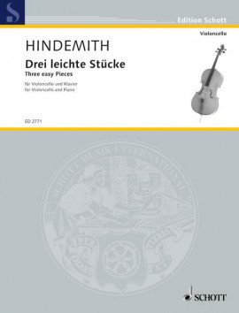 Hindemith: 3 Easy Pieces for Cello published by Schott