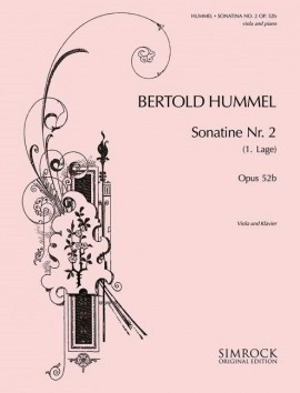 Hummel: Sonatina No 2 for Cello published by Simrock