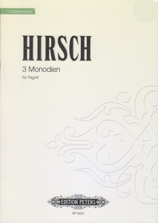 Hirsch: Monodies for Bassoon Solo published by Peters