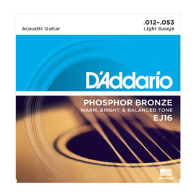 EJ16 Phosphor Bronze Acoustic Guitar String Set (Light)