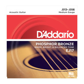EJ17 Phosphor Bronze Acoustic Guitar String Set (Medium)