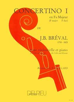 Breval: Concertino No 1 in F for Cello published by Delrieu