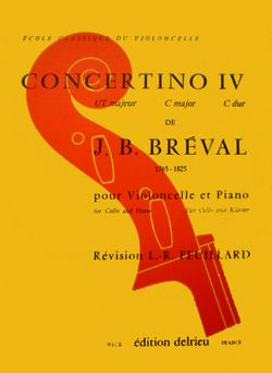 Breval: Concertino No 4 in C for Cello published by Delrieu