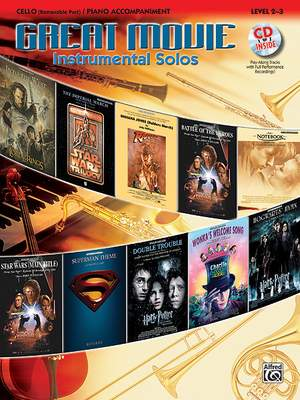 Great Movie Instrumental Solos - Cello published by Alfred (Book & CD)