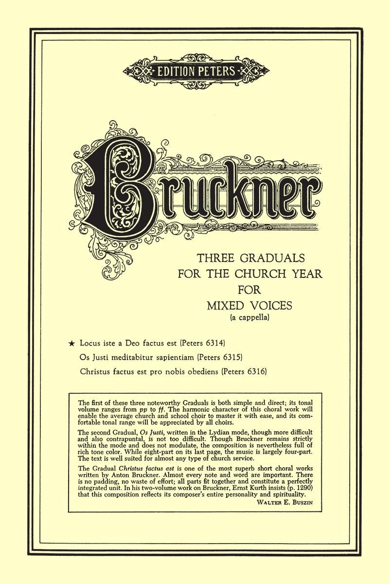 Bruckner: Locus Iste a Deo Factus Est SATB published by Peters Edition