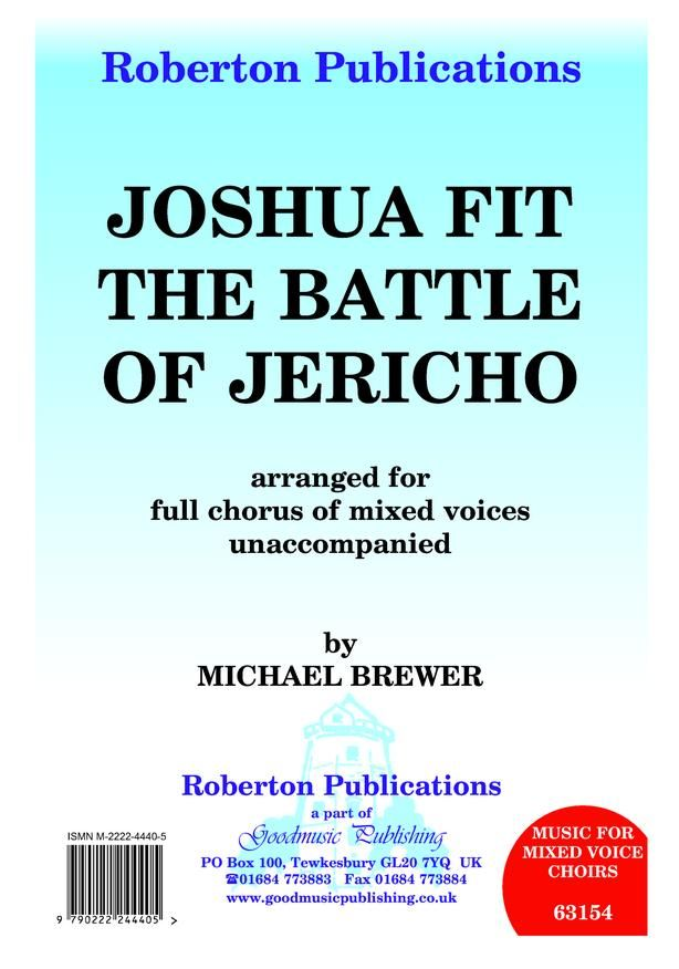 Brewer: Joshua Fit the Battle of Jericho SATB published by Goodmusic