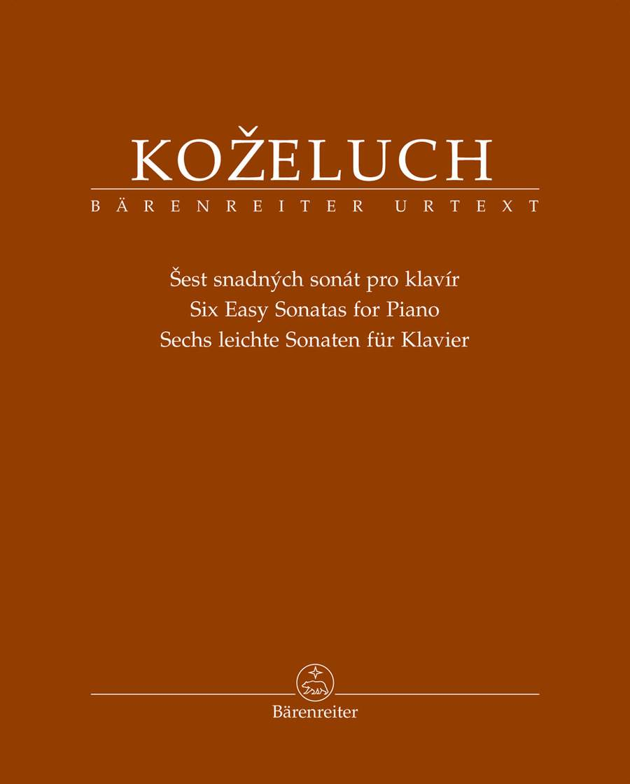 Kozeluch: Six Easy Sonatas for Piano published by Barenreiter