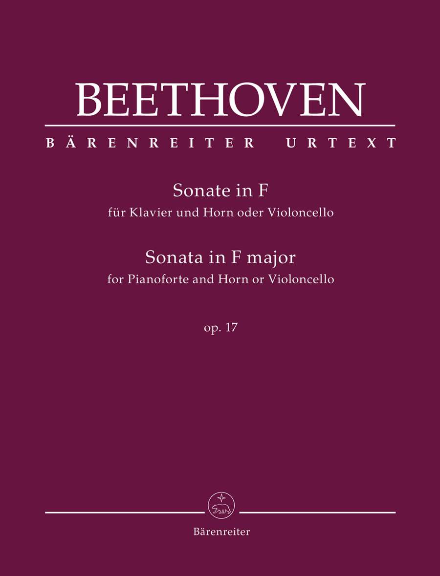 Beethoven: Sonata in F Opus 17 for Horn or Cello published by Barenreiter