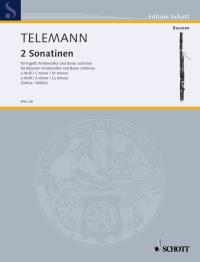 2 Sonatinas for Bassoon by Telemann published by Schott
