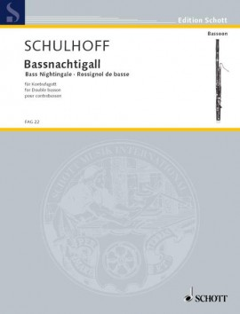 Schulhoff: Bass Nightingale (Bassnachtigall) for Contra Bassoon published by Schott