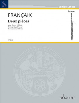 Francaix: Two Pieces for Bassoon published by Schott