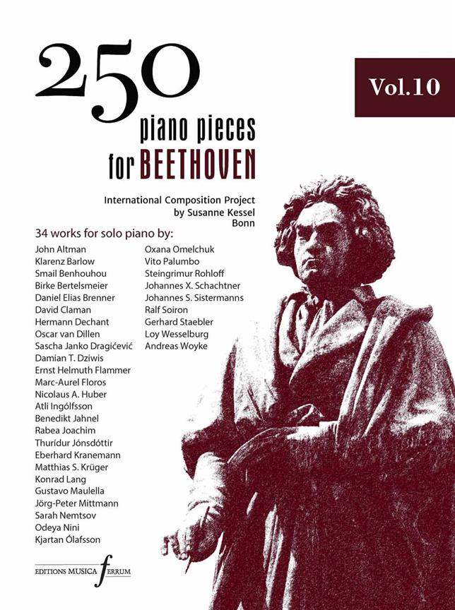 250 Piano Pieces For Beethoven - Volume 10 published by Ferrum