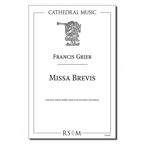 Grier: Missa Brevis SATB published by Cathedral Music