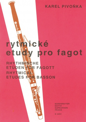Rhythmical Studies by Pivonka for Bassoon published by Barenreiter Praha
