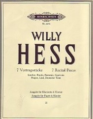 Hess: 7 Recital Pieces Volume 1 published by Hinrichsen