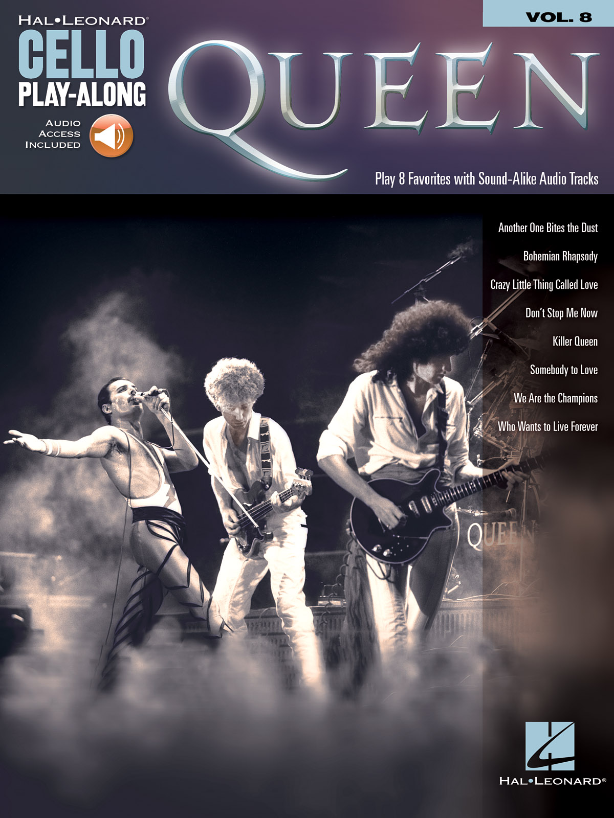 Cello Play-Along: Queen published by Hal Leonard (Book/Online Audio)