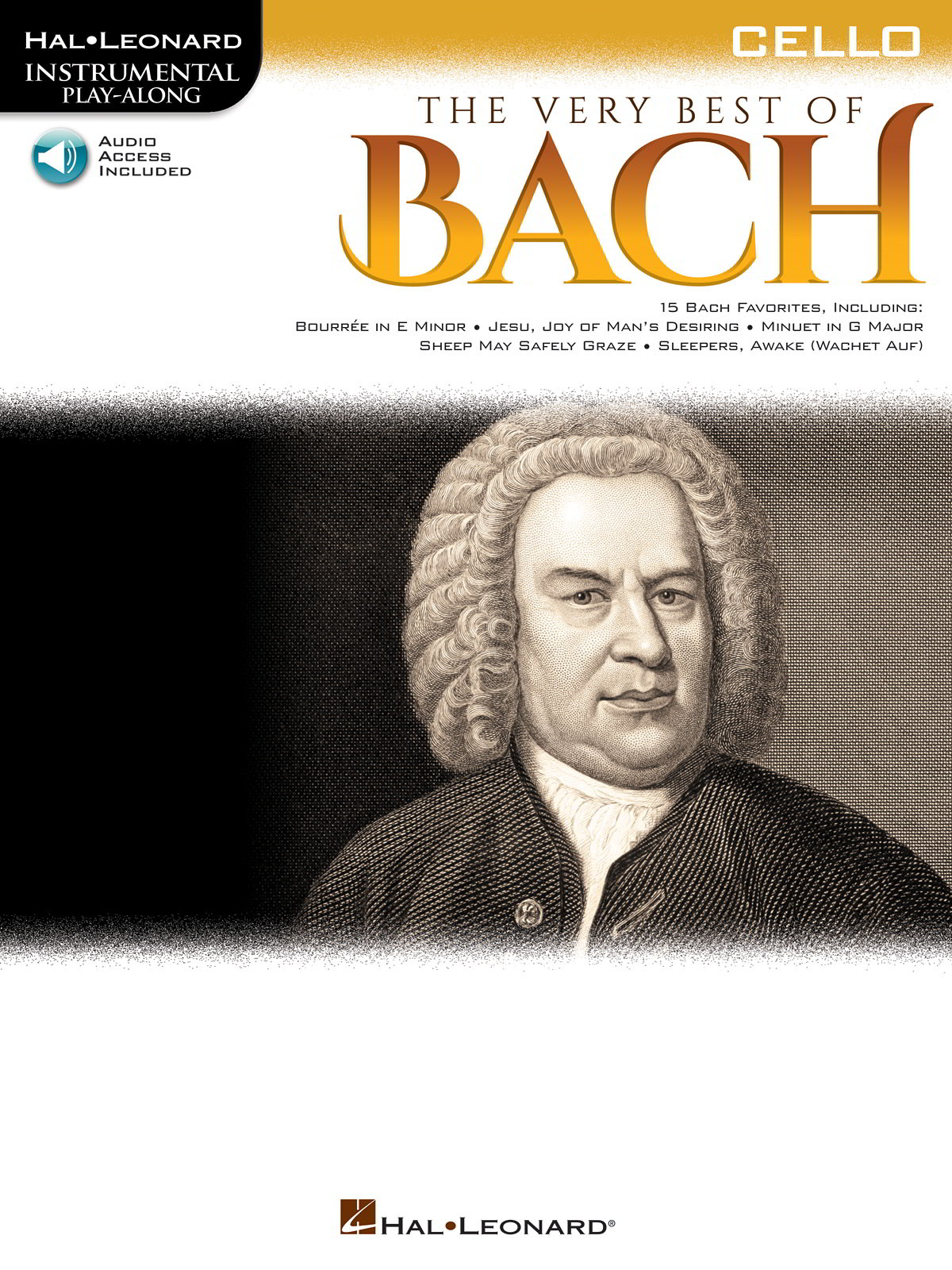 The Very Best of Bach - Cello published by Hal Leonard (Book/Online Audio)