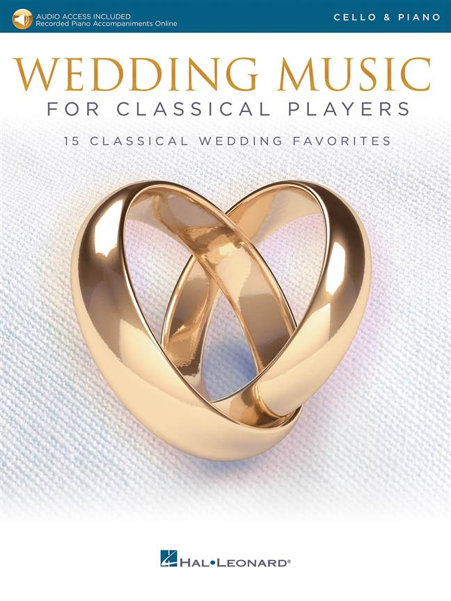 Wedding Music for Classical Players - Cello published by Hal Leonard (Book/Online Audio)
