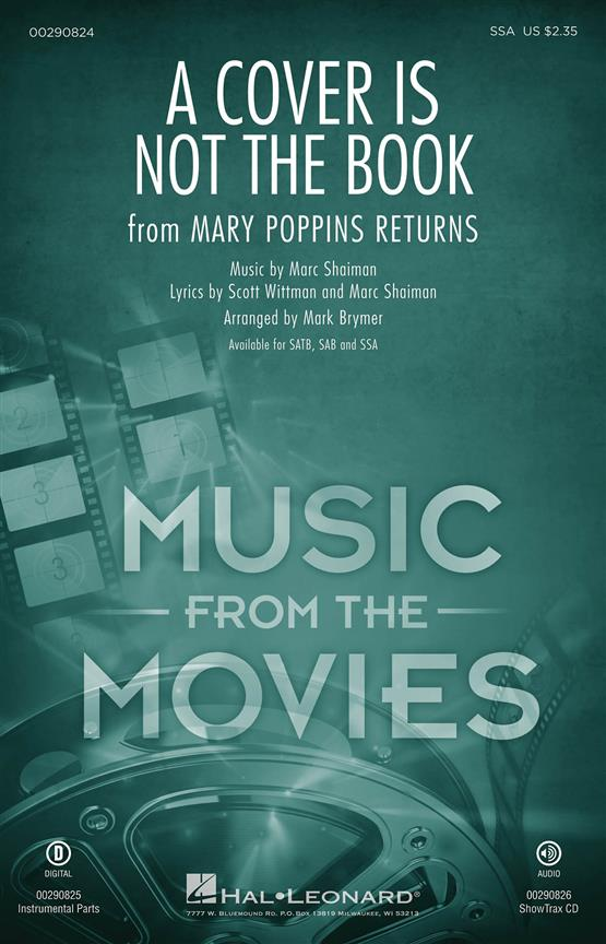 A Cover Is Not the Book SSA published by Hal Leonard