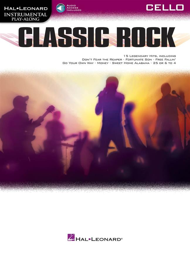Classic Rock - Cello published by Hal Leonard (Book/Online Audio)