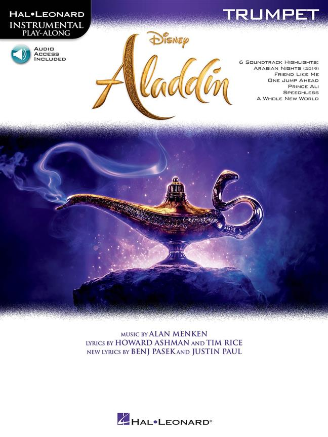 Aladdin - Trumpet published by Hal Leonard (Book/Online Audio)