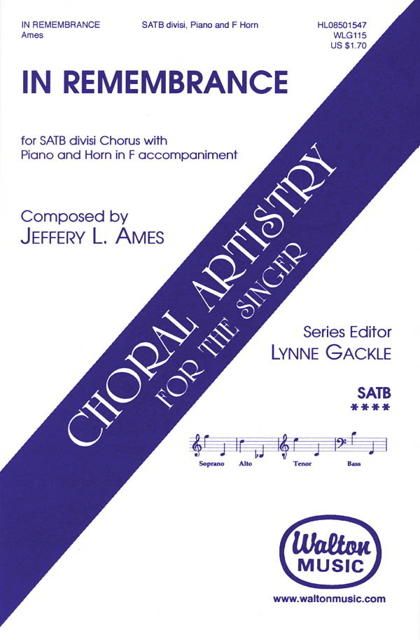 Ames: In Remembrance SATB published by Walton
